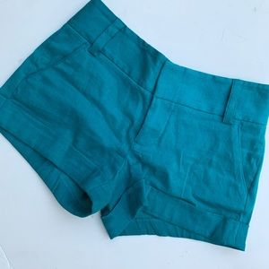 Alice + Olivia Teal shorts sz 2
